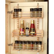 Kitchen Cabinet Spice Racks Shop Rev A Shelf Wood In Cabinet Spice Rack At Lowes Com