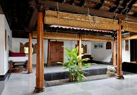 home interiors kerala interior design of daylight courtyard in kerala b photograph by