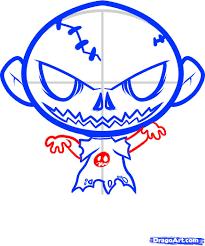 Halloween Cartoon Drawings How To Draw A Halloween Zombie Halloween Zombie Step By Step
