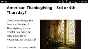 mandela effect thanksgiving 3rd or 4th thursday of november