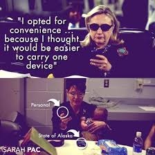 Hillary Clinton Cell Phone Meme - sarah palin mocks hillary clinton s convenience excuse in email