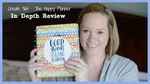 create 365 the happy planner in depth review and thoughts