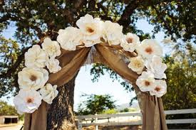 wedding arches decorated with burlap rustic wedding arch with burlap and paper flowers