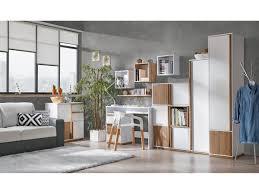 Schlafzimmer Und Arbeitszimmer Kombinieren Arbeitszimmer Set E 05 Evado Weiß Nussbaum 9 Tlg 784 30 U0026