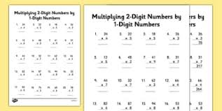 multiply two digit and three digit numbers new 2014 page 1