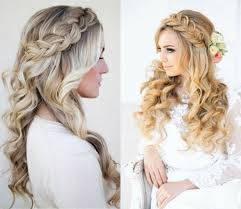 bride half up half down hairstyle popular long hairstyle idea