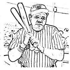 ruth baseball legend mlb coloring color luna