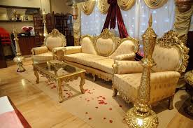 Indian Wedding Chairs For Bride And Groom Luxury Gold Leather Wedding Event Bride Groom Sofa Chair Buy