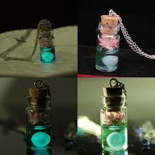 wish bottle necklace images Glow in the dark wish bottle necklace thefashionbooth jpg