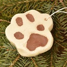 salt dough pet paw print ornament the resourceful