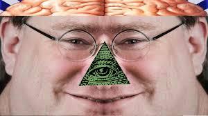 Gabe Newell Memes - gabe newell is illuminati a peladophobian parody youtube