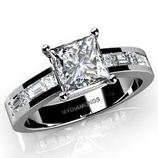 white gold diamond ring grazia princess cut diamond engagement ring