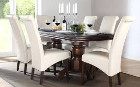 Cream Round Table And Chairs Dining Table Dark Wood Dining Table Chairs Sets Cream Leather