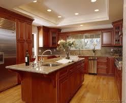 lately dark cherry kitchen cabinets beautiful kitchen with cherry