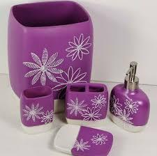 Lime Green Bathroom Accessories by 15 Elegant Purple Bathroom Accessories Home Design Lover