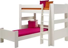 White High Sleeper Bed Frame Pine L Shape High Sleeper Guest Bed