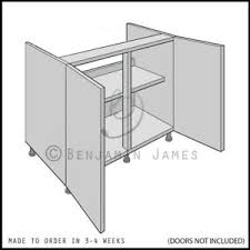 kitchen base cabinets ebay details about kitchen carcass unit hi line sink hob base cabinet 18mm back 100 colours