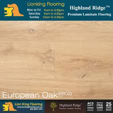 Highland Laminate Flooring European Oak 6801 Highland Ridge Premium Laminate Longboard