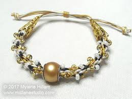 leather bracelet knots images Beaded leather kumihimo bracelet with sliding knot jpg