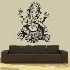 Lotus Flower Wall Decal Om by Aliexpress Com Buy Buddha Dance Indian Hinduism Wall Sticker