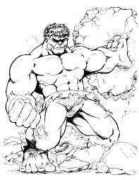 incredible hulk coloring pages strong incredible hulk breaking rock coloring page h u0026 m
