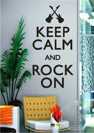 for home decor vinyl keep calm and rock on music notes quotes