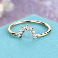 womens diamond wedding bands diamond wedding band women curved stacking ring delicate chevron