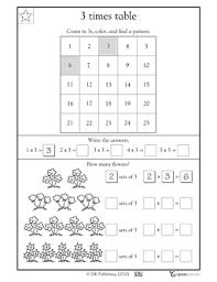 3 times tables worksheets u0026 activities greatschools math