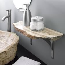 Sink Shelves Bathroom Petrified Wood Shelf Bathroom