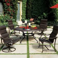Faux Stone Patio by Furniture U0026 Rug Tropitone Sling Replacements Tropicana Patio