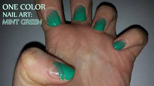 one color nail art mint green youtube