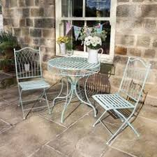 Blue Bistro Chairs Bistro Set Table And 2 Chair Shutter Blue Garden Pinterest