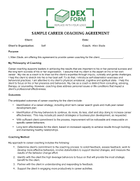 Sample Skills Resume by Sample Career Coaching Agreement In Word And Pdf Formats