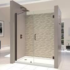 Hinged Glass Shower Door Dreamline Unidoor 57 61x72 Inch Frameless Hinged Shower Door 60