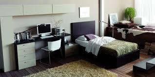 barcelona canapé sobrio dormitorio juvenil con cama tipo canapé abatible