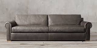Dove Grey Leather Sofa Seating Collections Rh