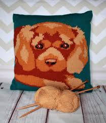 Knitted Cushion Cover Patterns Ruby Cavalier King Charles Spaniel Cushion Cover Knitting Pattern