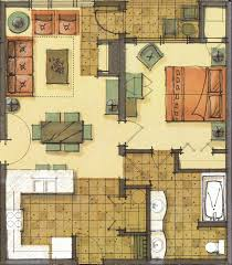 Room Types  Floor Plans At Morning Star Lodge At Silver Mountain - One bedroom townhome