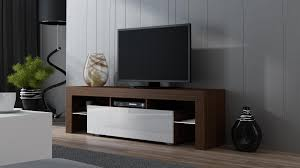 tv tables modern milano 160 walnut modern tv stand tv stands tv units and tv