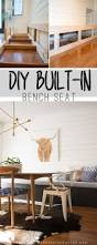 bench built in benches diy built in bench this to cover up the