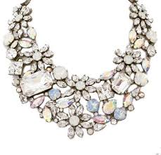 bib necklace flower images Crystal color statement necklace images jpg
