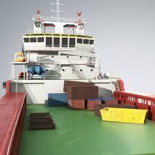 3d kvp multi purpose offshore vessel cgtrader