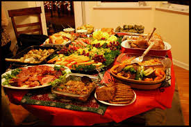 table full of food christmas eve meal table 1 too much food everywhere in the flickr