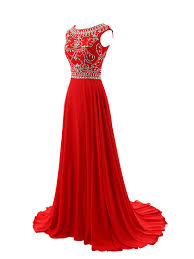 red prom dresses elegant evening dresses long formal gowns beading