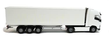 white volvo truck emek 81135 volvo fh box trailer truck white robbis hobby shop