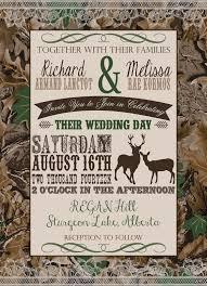 Camouflage Wedding Invitations Customized Wedding Invitation Camo Deer Camouflage Couples
