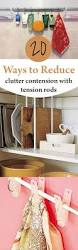 20 ways to reduce clutter with tension rods popular pins