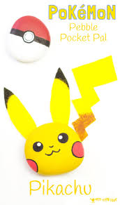pikachu craft pebble pokémon diy kids craft room