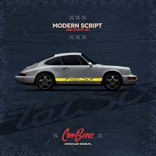 outlaw porsche 912 modern script side decals car bone pl