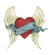 heart tattoos love heart tattoo with wings by rhynorulz88 on